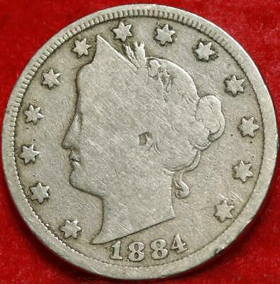 1884 Philadelphia Mint Liberty Nickel Free Shipping