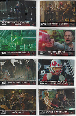 2016 Star Wars The Force Awakens Chrome Refractors parallel 8 card lot different