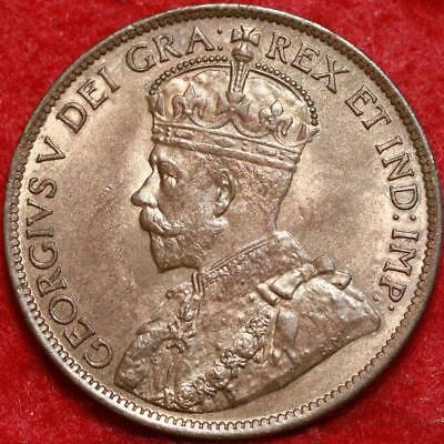 Uncirculated 1913 Canada One Cent Foreign Coin Free S/H