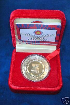 Singapore  1997  $10 Dollar  Silver Proof Coin In Original Box Of Issue