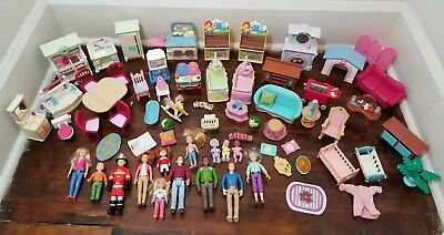 Fisher Price Loving Family Dollhouse Furniture & Figures Lot