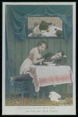 French nude erotic Fernande beginning prostitute steal old 1910s photo postcard