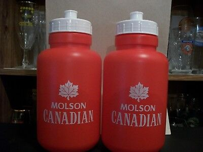 2- Brand New-Molson Canadian One Litre Water Bottles