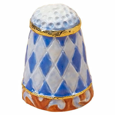 Jim Shore THIMBLE WITH QUILT PATTERN 4020601