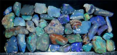 100 Cts #967 Opal Rough And Rough Rubs From Lightning Ridge Australia