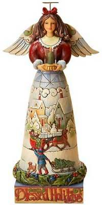 Jim Shore Heartwood Creek BLESSED HOLIDAYS ANGEL Figurine 4017632