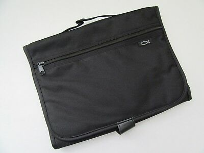 Large Bible Cover Case Carrier TriFold Organizer Inspirio by Zondervan Black