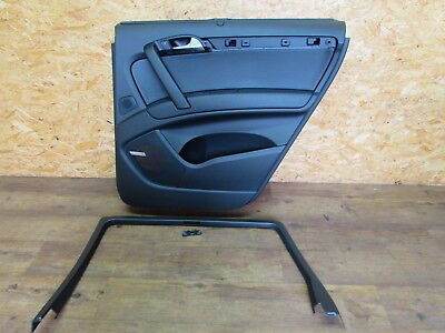 Door Panel Rear Right Black Soul Leather with Window Blind Audi Q7 4L