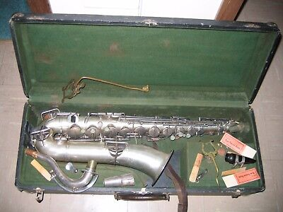 Vintage The Buescher Elkhart Indiana Low Pitch Alto Saxophone To Restore