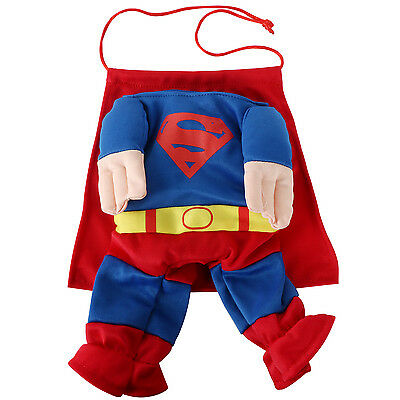 "Animale Domestico Cane Super Hero Costume da halloween vestito GRANDE 14.5""/37cm"