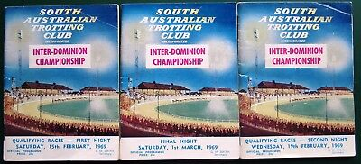 1969 Interdominion Championship Race Books: x 3  (Adelaide)  RICHMOND  LASS