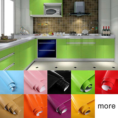 1PC Self adhesive Removable Vinyl Sticker Wallpaper Roll for Kitchen Home Decor