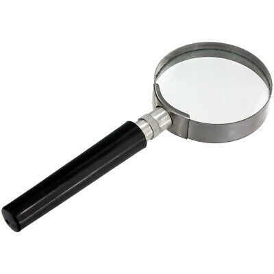 10X Magnification Handheld Magnifier Magnifying Glass Handle Low Vision Aid New