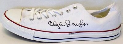 Elgin Baylor Los Angeles Lakers Signed Left Converse Shoe UDA