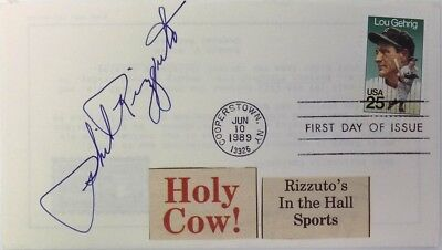 Phil Rizzuto New York Yankees Signed Holy Cow First Day Cover