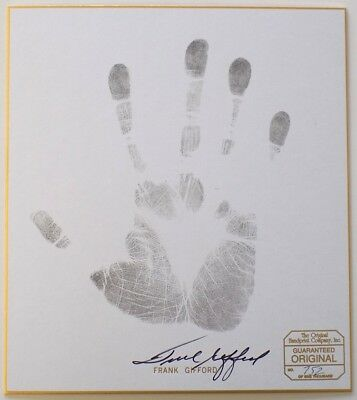Frank Gifford New York Giants Signed Authentic Hand Print Photo SI