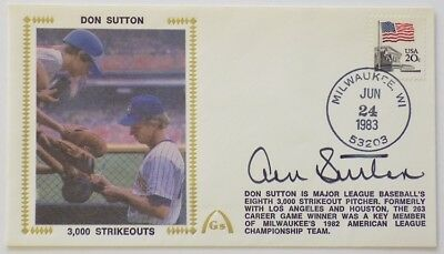 Don Sutton Milwaukee Brewers Signed Gateway First Day Cover