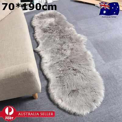 190CM DOUBLE Genuine Premium Soft Sheepskin Lambskin Rug Pelt White Grey Black