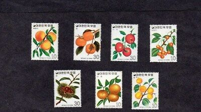SOUTH KOREA.1974. 7 x DIFFERENT 'FRUITS' STAMPS M.N.H.
