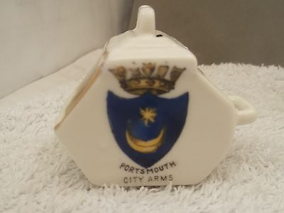 Shaped Model Of A Coal Scuttle   Crested Portsmouth  By Gemma China