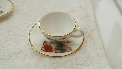 Caverswall China Miniature Christmas Cup And Saucer For 1981 Christmas Pudding