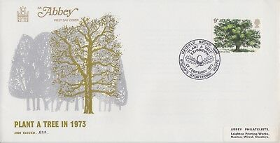 Gb Stamps First Day Cover 1973 Tree Bishops Stortford Rare Pmk Collection