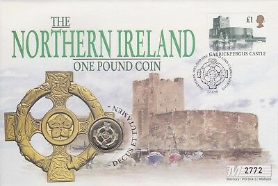 Gb Stamps 1996 Northern Ireland New £1 Coin Special Cover From Collection