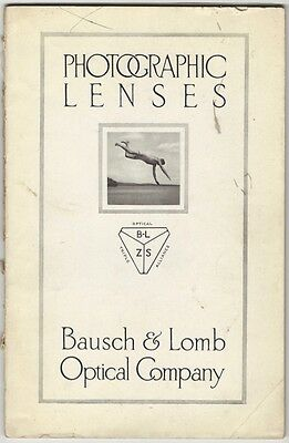 1912 Bausch & Lomb Photographic Camera Lenses Photography Catalog