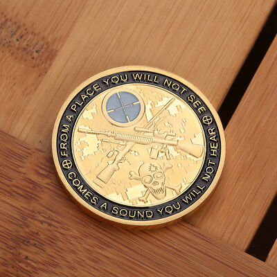 1pc Cool Sniper Gold Commemorative Coin GIFT