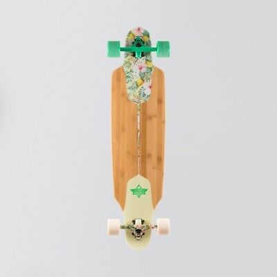 """Dusters Channel Hawaiian Longboard Green/Off White - 38"""" Free P&P  save £££'s"""