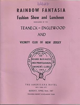 1967 RAINBOW FANTASIA Teaneck - Englewood and Vicinity Club of New Jersey