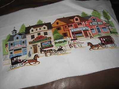 Old American Scene Cross Stitch Embroidery Wall Art Cushion Bag Christmas Gift