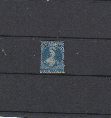 A very nice Victorian New Zealand 2d Deep Blue Issue perf 13 Large Star Wmk