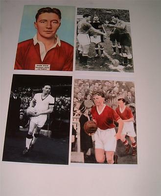 Manchester United Fc Busby Babes Legend Roger Byrne Signed (Printed) Photos A