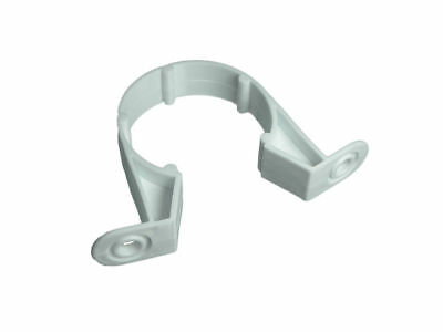 """*240 Units  - Waste Compression 32Mm 1 1/4"""" Pipe Clips Bracket (WHITE Plastic)"""