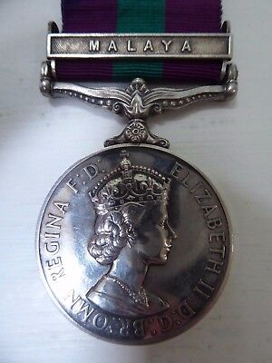 Pre 1962 General Service Medal with Malaysian clasp - RAF issued  ##RUG76ABS