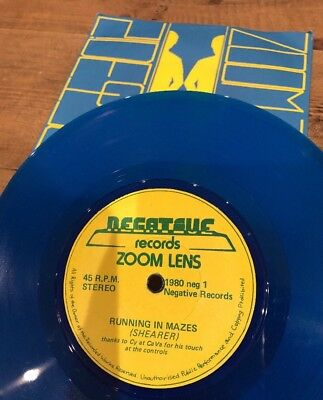 "Rare 7"" Scottish New Wave Zoom Lens Side To Side  Blue Vinyl EX RARE**"