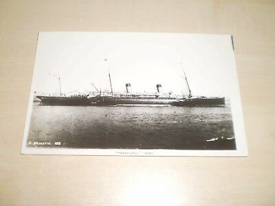 """1889 White Star Line """"Majestic"""" Liner Plain Back Photo By Nautical Photo Agency"""