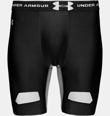 Mens Under Armour Hockey Black Compression Fitness Active Sports Shorts Size Xl