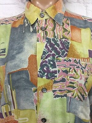 ❤️ Vintage 90's UNISEX Crazy Bright Abstract Oversize Festival Ibiza Shirt