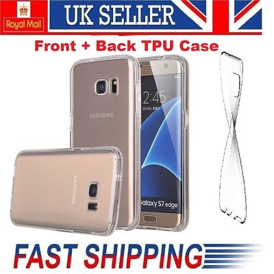 Front Back TPU Silicone Transparent Case For Samsung Galaxy Note 8 S7+ S8 Edge +