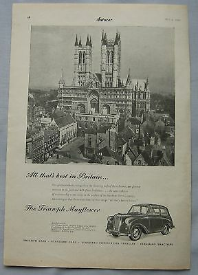 1950 Triumph Mayflower Original advert No.2