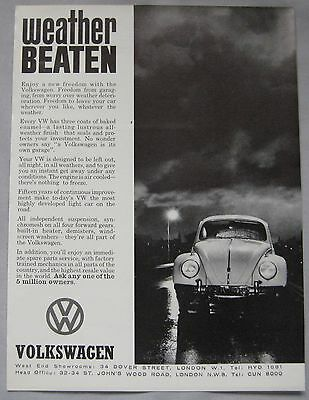 1962 VW Beetle Original advert