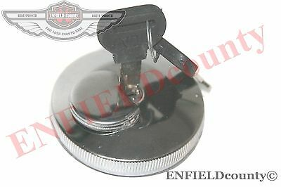 LOCKABLE FUEL TANK CAP CHROME PLATED WITH 2 KEYS MASSEY FERGUSON TRACTORS @AEs