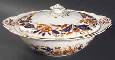 Booths DOVEDALE BROWN & COBALT Round Covered Vegetable Bowl 38071