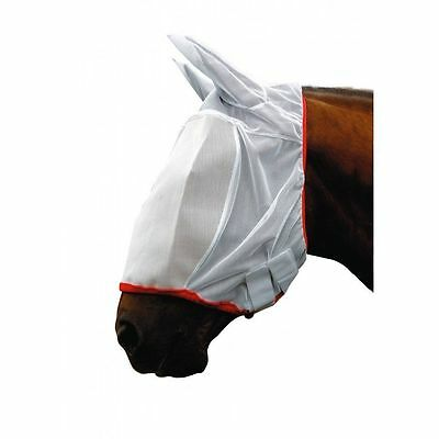 "NEW "" 2 x COB ""  COTTAGE CRAFT WHITE  FULL FACE MESH  FLY MASK FLY VEIL X 2"