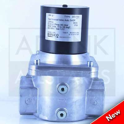 "Gas Solenoid Valve 2"" BAP  for Gas Interlock System Shut Off Kitchen Canopy 50mm"