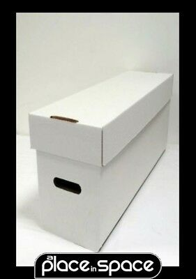3 x LONG COMIC STORAGE BOXES (COMICARE) - HOLD 300 COMICS EACH (SUPPLY123)