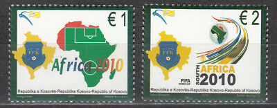 Kosovo No. 158-159** Soccer World Cup 2010 in South Africa