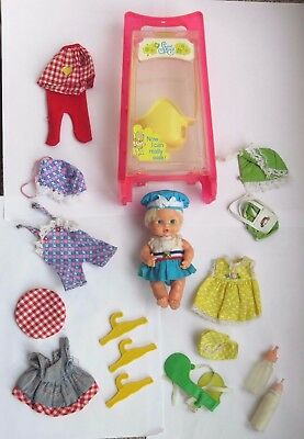 Vintage Sweet April Doll & Swing Case + Clothes 1970's
